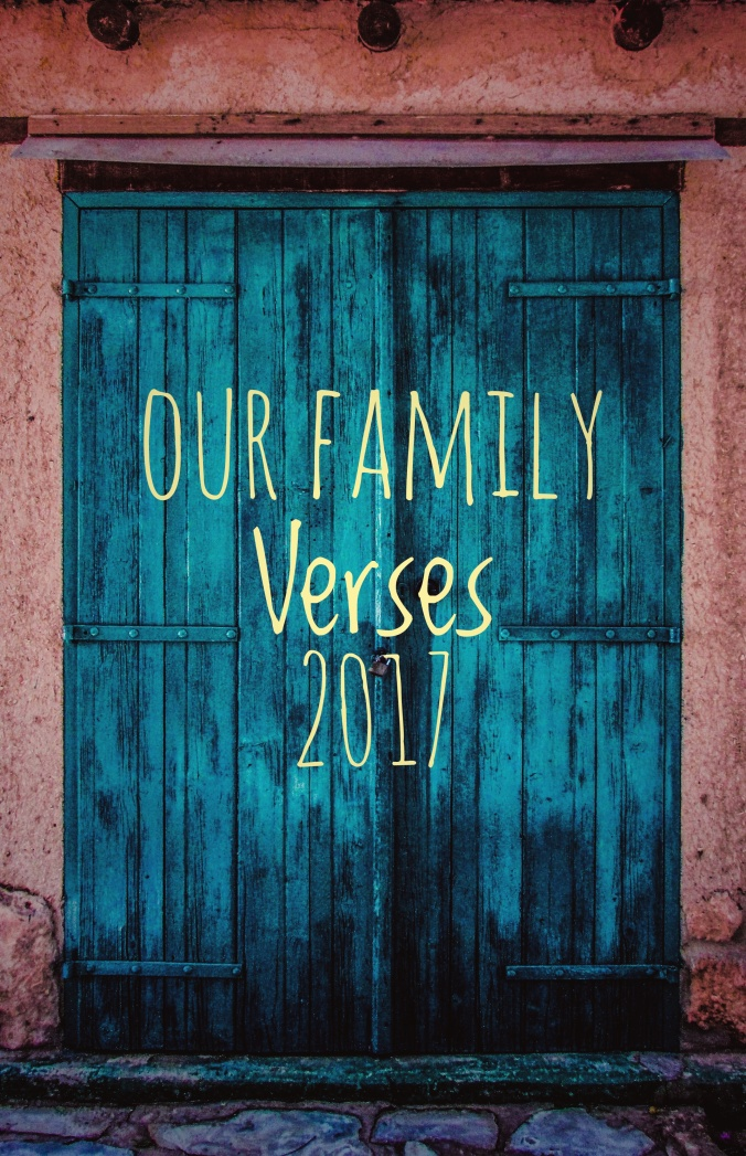 Our Family Verses 2017-- WellOFaith