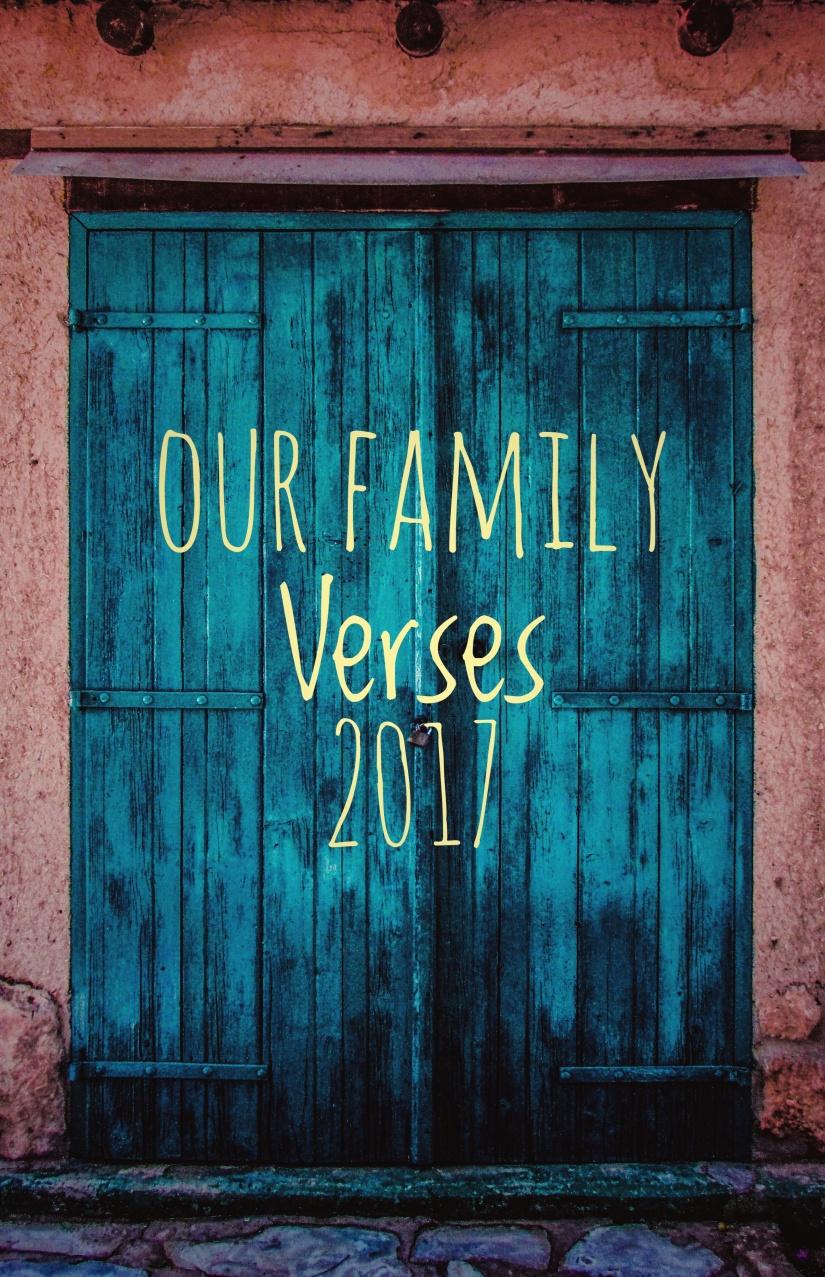Our Family Verses 2017-- WellOFaith